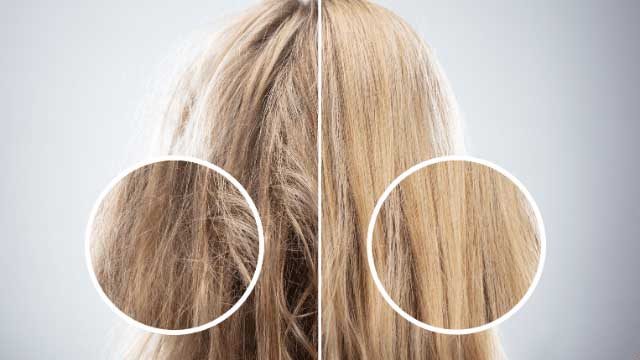 women hair before and after