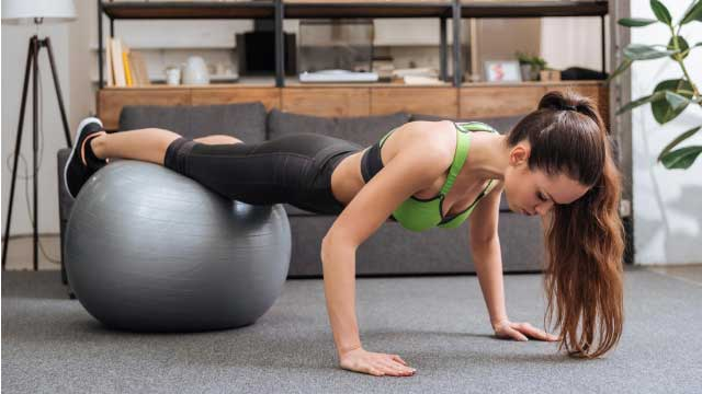 Do exercises with weights and push-ups