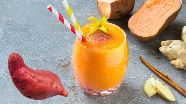 Orange sweet potato fall smoothie